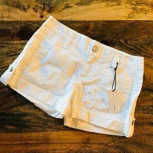 NWT Sanctuary White Rolled Shorts size 24